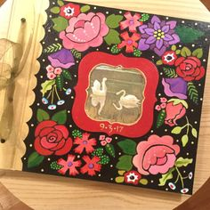 The guest book that I painted and is full of wonderful wishes! Mary Engelbreit, Stuff To Do, Upcycle, Joy, Pure Products, Frame, Instagram Posts, Crafts, Craft Ideas