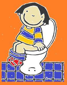 kleurplaat op de grote wc zindelijkheid