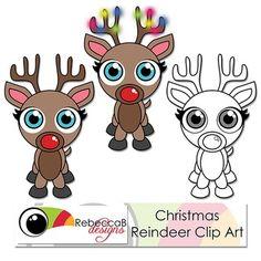 Clip Art: Christmas Reindeer FREE