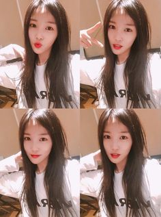 GFriend's Yuju without bangs. Snsd, South Korean Girls, Korean Girl Groups, Kpop Hair, Gfriend Yuju, Cloud Dancer, Hairstyle Look, Entertainment, G Friend