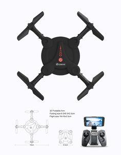 Eachine E55 Mini WiFi FPV Dobrável Selfie Drone Auto com Modo de Alta Suspensão Quadricóptero RC