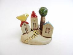 clay houses ceramic houses miniature house tiny by potteryhearts