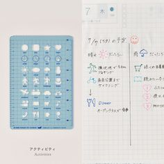 Hobonichi Template Doraemon and Friends Gray Stencil Sheet for Planner JAPAN