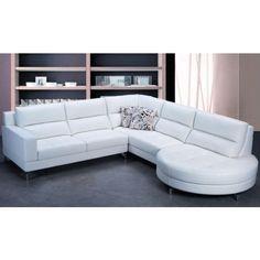 Modern Leather Sectional Sofa Set