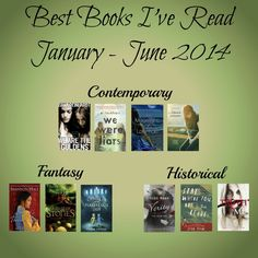 The ten best books I've read in 2014 - January to June.