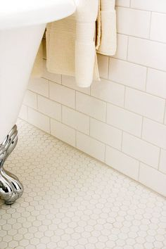 Manhattan | Subway Wall Tile | white bathroom tile design http://www.tile-shop.com/products/manhattan/manhattan.html