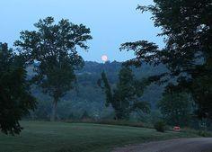 Super Moonset over the Ozarks ~ Eureka Springs