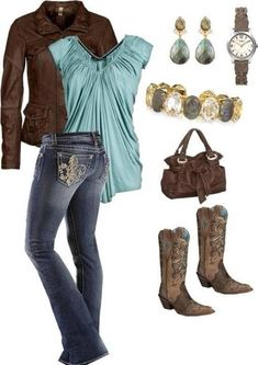 "I love the shirt....I'm not too into the ""cowgirl"" theme. The jeans are cute though =)"