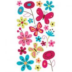 Friday Featured Item - Sticko scrapbooking sticker Butterfly Garden item S-52-00163.    $1.00