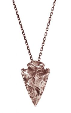 Rose gold arrowhead necklace