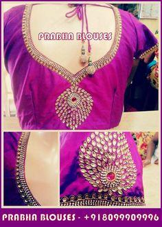 Wedding Saree Blouse Designs, Pattu Saree Blouse Designs, Blouse Designs Silk, Designer Blouse Patterns, Maggam Work Designs, Simple Blouse Designs, Malu, Hand Designs, Sarees
