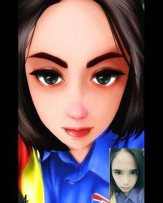 Done zahra.. #illustration #digitalpainting #potrait #art #girl #syarifahzahra @syarifahzahra251