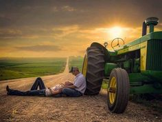 Cute engagement picture! Country.
