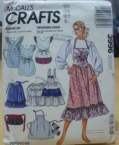 Free shipping McCall's Crafts 3996 Aprons galore sewing