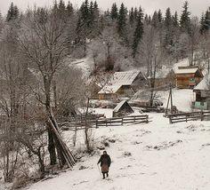 peisaje iarna romania