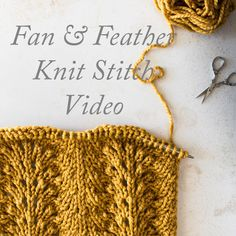 This is the lovely fan and feather knit stitch.  I've included an I-cord on either side to keep the edges from curling :)