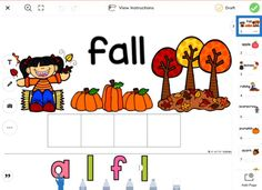 Practice fall vocabulary with this drag and drop activity! Move the letters to spell the fall words.