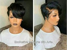 Short Cut Wigs, Pixie Cut Wig, Short Hair Cuts, Pixie Bob, Short Lace Front Wigs, My Hairstyle, Wig Hairstyles, 27 Piece Hairstyles, Short Weave Hairstyles