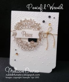 Stampin' Up! Peaceful Wreath by Melissa Davies @rubberfunatics #rubberfunatics #stampinup