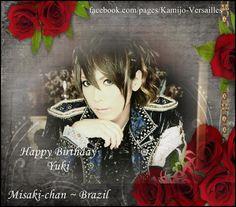 #HappyBDayHizakiandYuki por Kamijo e Versailles (Fanpage) - Brazil