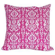 Organic+canvas+pillow+with+an+ikat+motif.+  Product:+PillowConstruction+Material:+Organic+canvasColor...