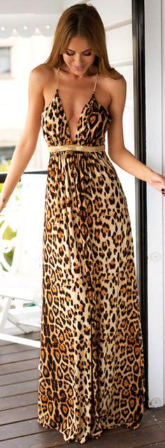 7 Best leopard maxi dress images  6717d8824