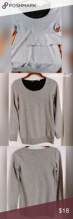 "Urban Outfitters Comfy Pullover This light gray pullover sweatshirt from Urban Outfitters (BDG.) is very comfortable and cute. Its slightly loose fitting with cuffed sleeves and waist. It is slightly distressed near the top and on the scoop neck which gives it a little bit of an edgy feel. Perfect for cozying up!  Material/care:Polyester/cotton Fit: Stretches slightly, bit oversized, fitted sleeves & waist, long (could work for S too) Condition: great, gently used, no damage  ❤Chest: 15""…"