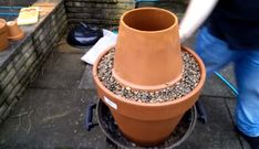 Tandoori oven made with flower pots