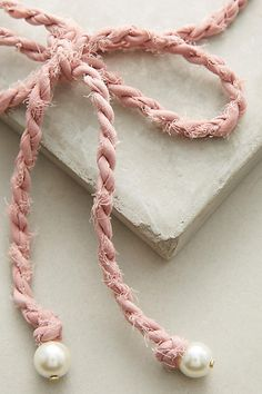 Slide View: 2: Braided Bow Choker Necklace
