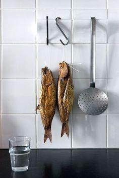 Carreaux patères pour accrocher les ustensiles de cuisine