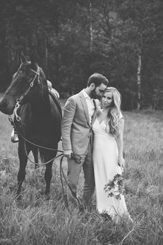 bridal session with a horse