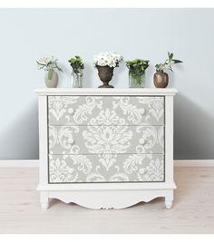 WallPops® NuWallpaper™ Grey Ariel Damask Peel & Stick Wallpaper | Online Only Product
