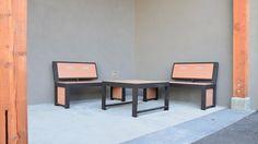 Urban Form Split Back Benches #bench #benches #streetfurniture #design #madeincanada