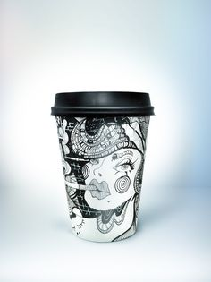 Design coffee cup (for Brick Lane cafe, London)