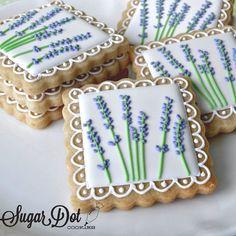 #itmaybewinter #lavender Flower Sugar Cookies, Iced Sugar Cookies, Tea Cookies, Fancy Cookies, Easter Cookies, Cookie Frosting, Royal Icing Cookies, Paint Cookies, Summer Cookies