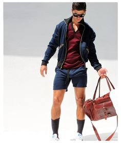 Don't know if that huge bulge in his shorts is part of the fashion thing... :D