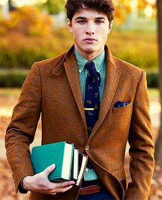 Great Autumn style. We especially like the tie with flying duck motif