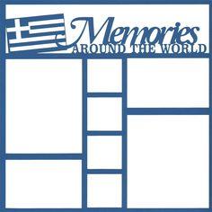 Greece Memories Around The World 12 x 12 Overlay Laser Die Cut