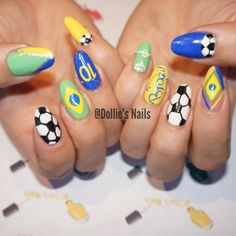 2014 World Cup, Brazil, Nails, Nail Art, Soccer