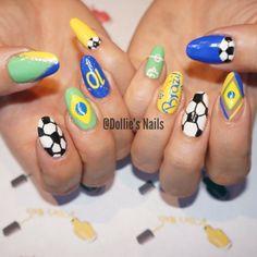 2014 World Cup, Brazil, Nails, Nail Art, Soccer