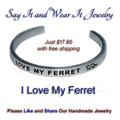 I Love My Ferret Handmade Bracelet. #ferret #ferrets #pets #pet #fashionjewelry #etsyhandmade #usa #etsy #instadaily #boutiques #new #handmade #design #handmadejewelry #selfmade #jewelryforsale #instajewelry #sayitandwearit #bracelet #jewellery #artisan #shophandmade #amazonhandmade #jewelryoftheday #cute  #love #beautiful  #instadaily  #happy  #fashion