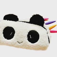 Korean Cute Plush Panda Pencil Case Kawaii Noverty Cheap Big Large Capacity Multifunction Pen Bags for Kids School Stationery School Stationery, Stationery Items, Panda Love, Cute Panda, Panda Panda, Pencil Bags, Pencil Pouch, Cute Plush, Office And School Supplies
