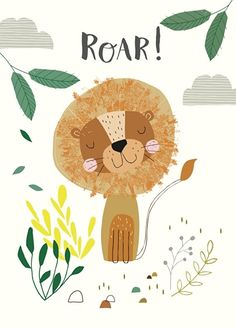 Nikki Upsher 'Postcard Roar Lion'