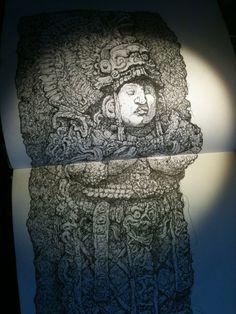 Mayan statue from the Sketchbook of Jonny Dixon (www.jonnydixon.co.uk) Graphic Novels, Sketchbooks, Illustrations, Statue, Artwork, Comics Story, Art Work, Work Of Art, Auguste Rodin Artwork