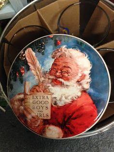 Vintage Christmas Santa Claus at Scranberry Coop Antique Stores, Dog Friends, Vintage Christmas, Your Dog, Decorative Plates, Artisan, Santa, Antiques, Antique Shops
