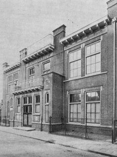Televisie studio Vitus, welke in de nacht van 21 op 22 maart 1971 afbrandde