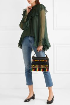 Valentino | My Rockstud embellished textured-leather tote | NET-A-PORTER.COM