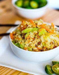 Skinny Garlic Fried Rice #vegan