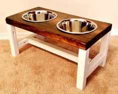 Dog Bowl Feeder Farmhouse Style Rustic Dog by TheBarnwoodBarge