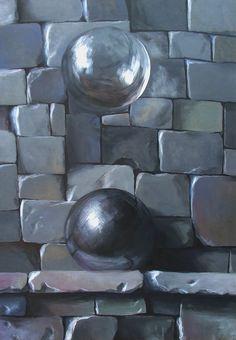 Z serii - Artefakty, akryl na płycie / Series - Artifacts, acrylic on board / 70x50 cm, 2013. http://pawgalmal.blogspot.com